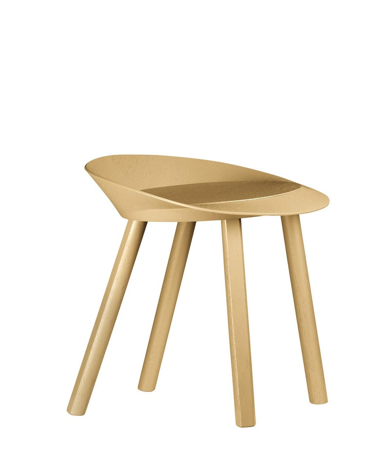 For Sale: Gold (Gold Lacquer) e15 Mr. Collins Stool by Stefan Diez