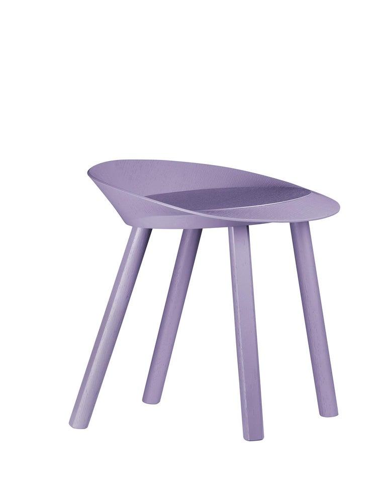 For Sale: Purple (Astro Violet Lacquer) e15 Mr. Collins Stool by Stefan Diez