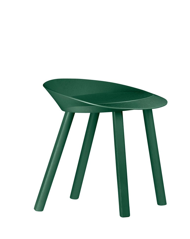 For Sale: Green (Ivy Green Lacquer) e15 Mr. Collins Stool by Stefan Diez