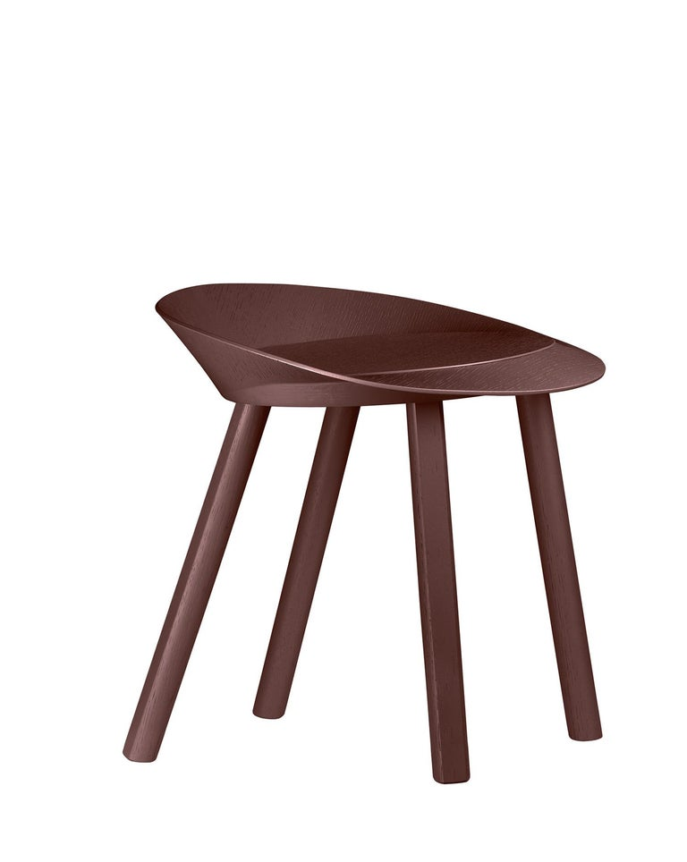 For Sale: Brown (Chocolate Brown Lacquer) e15 Mr. Collins Stool by Stefan Diez