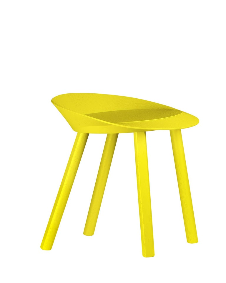 For Sale: Yellow (Sulfur Yellow Lacquer) e15 Mr. Collins Stool by Stefan Diez