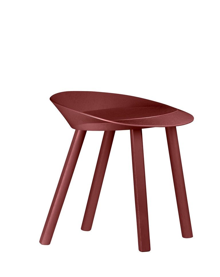 For Sale: Red (Oxide Red Lacquer) e15 Mr. Collins Stool by Stefan Diez