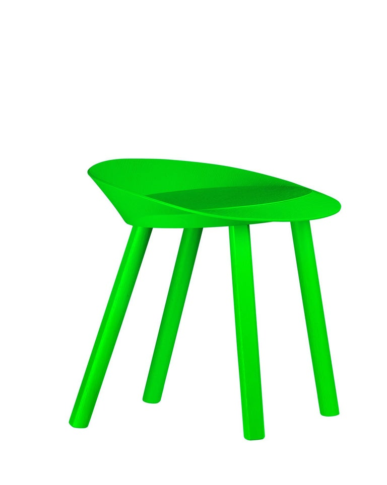 For Sale: Green (Atomic Green Lacquer) e15 Mr. Collins Stool by Stefan Diez