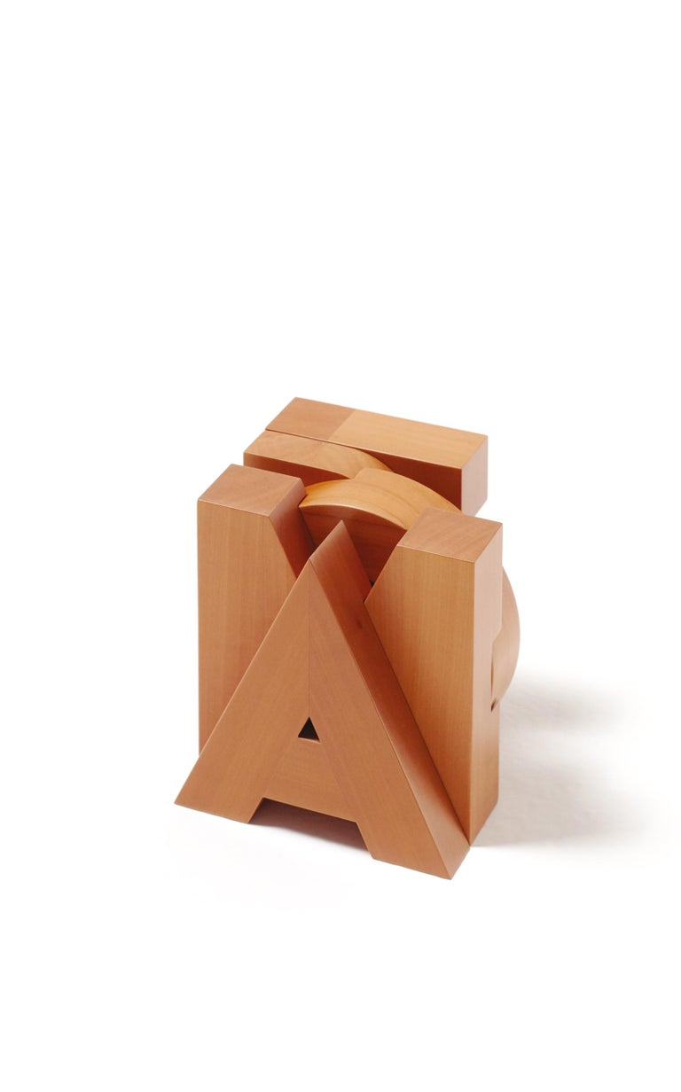 For Sale: Orange (Pearwood) Pino Tovaglia Small Parola Amore Collapsable Wooden Letters for Bottega Ghianda
