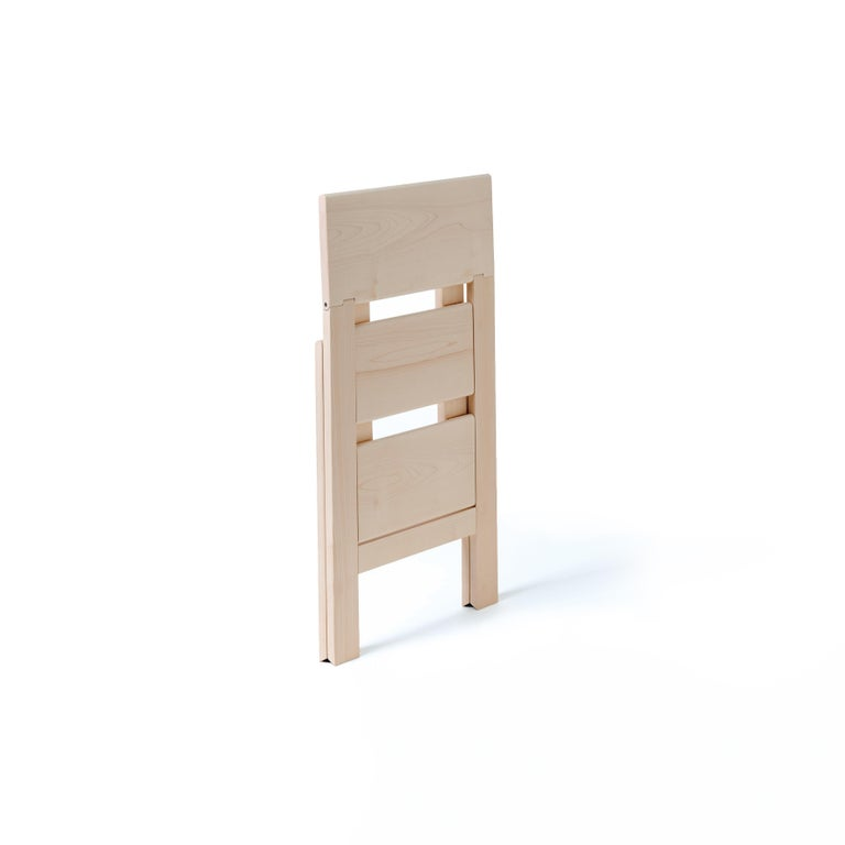 For Sale: Beige (Maplewood) Scaletta Pieghevole Wooden Collapsable Ladder Table by Bottega Ghianda 2