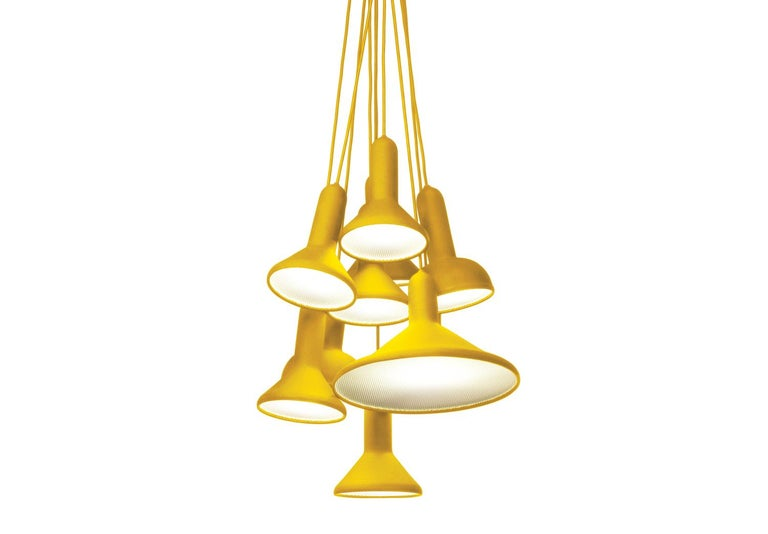 For Sale: Yellow (1863) Established & Sons S10 Bunch Torch Pendant Light by Sylvain Willenz