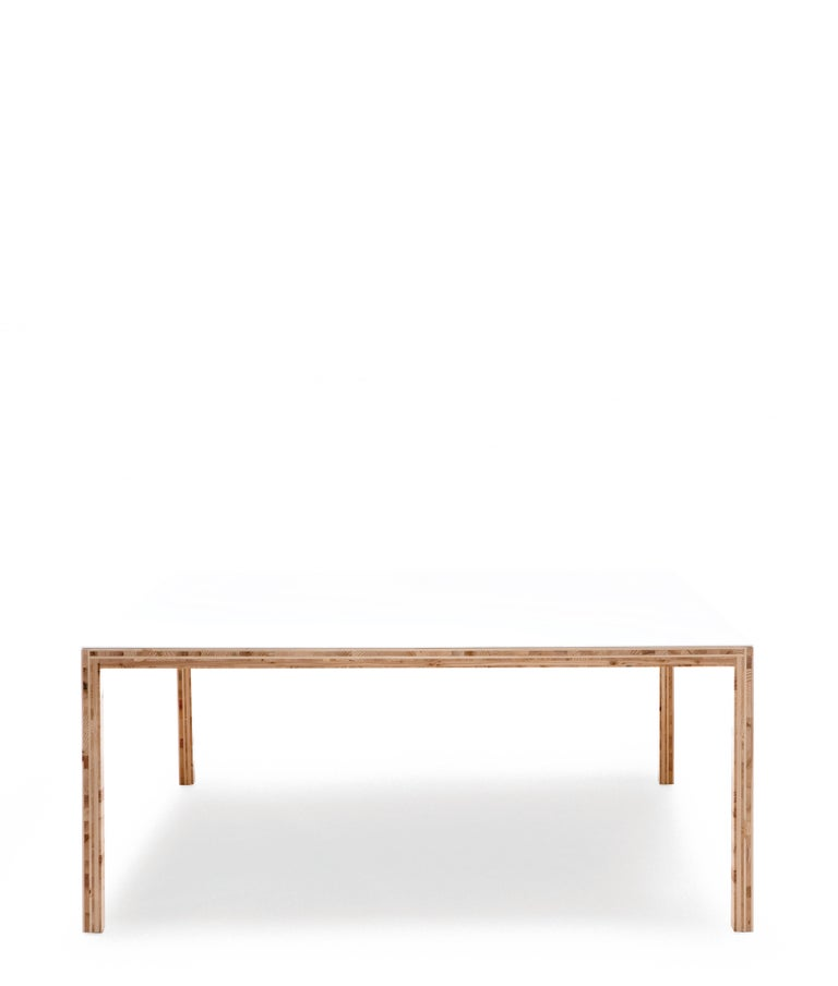 For Sale: White (0651) Established & Sons Table in Plywood by Caruso St John