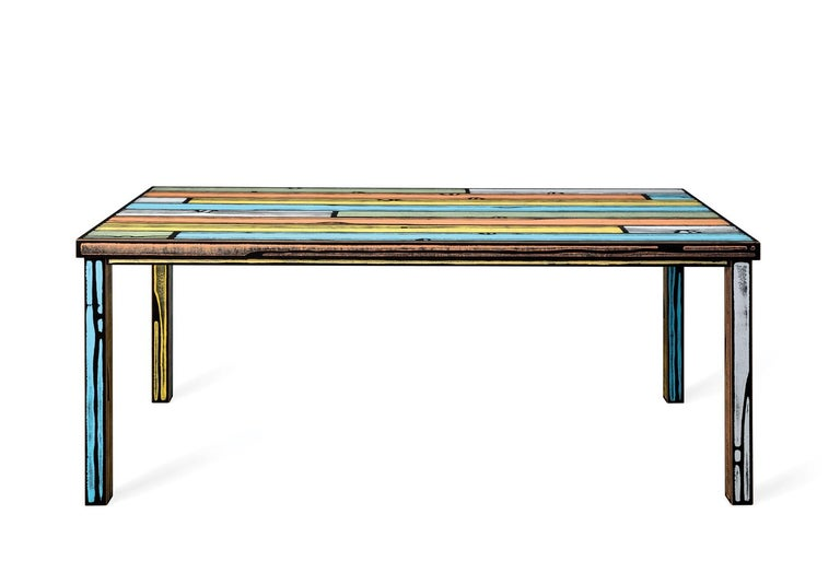 For Sale: Multi (6266) Established & Sons Wrongwood Dining Table by Richard Woods & Sebastian Wrong 2