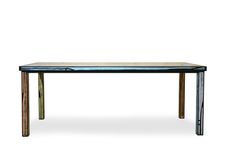 For Sale: Multi (6266) Established & Sons Wrongwood Dining Table by Richard Woods & Sebastian Wrong 3