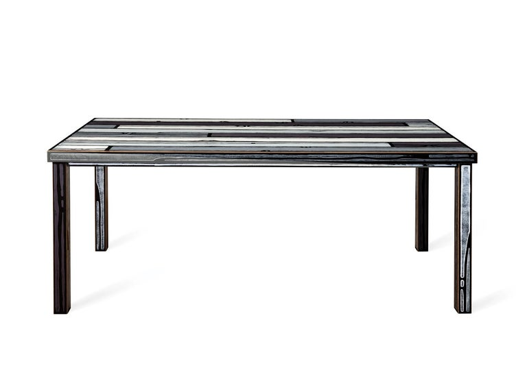 For Sale: Gray (6267) Established & Sons Wrongwood Dining Table by Richard Woods & Sebastian Wrong