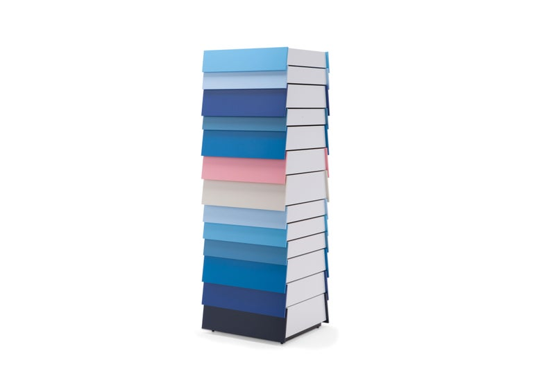 For Sale: Blue (4901) Established & Sons Stack-13 Drawers by Raw Edges and Shay Alkalay