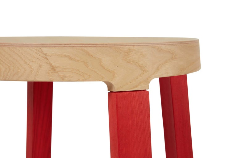 For Sale: Red (5165) Established & Sons Tall Step Stool in Wood by Federico Gregorutti 2