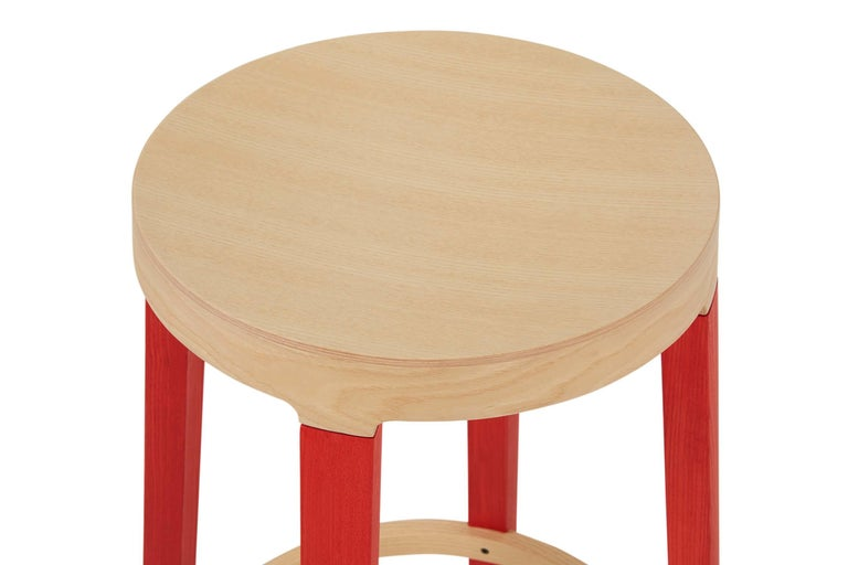 For Sale: Red (5165) Established & Sons Tall Step Stool in Wood by Federico Gregorutti 4