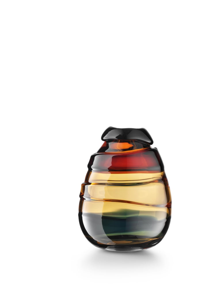 For Sale: Brown (02382) Extra Large Medium Sassi Vases in Hand Blown Murano Glass by Luciano Gaspari