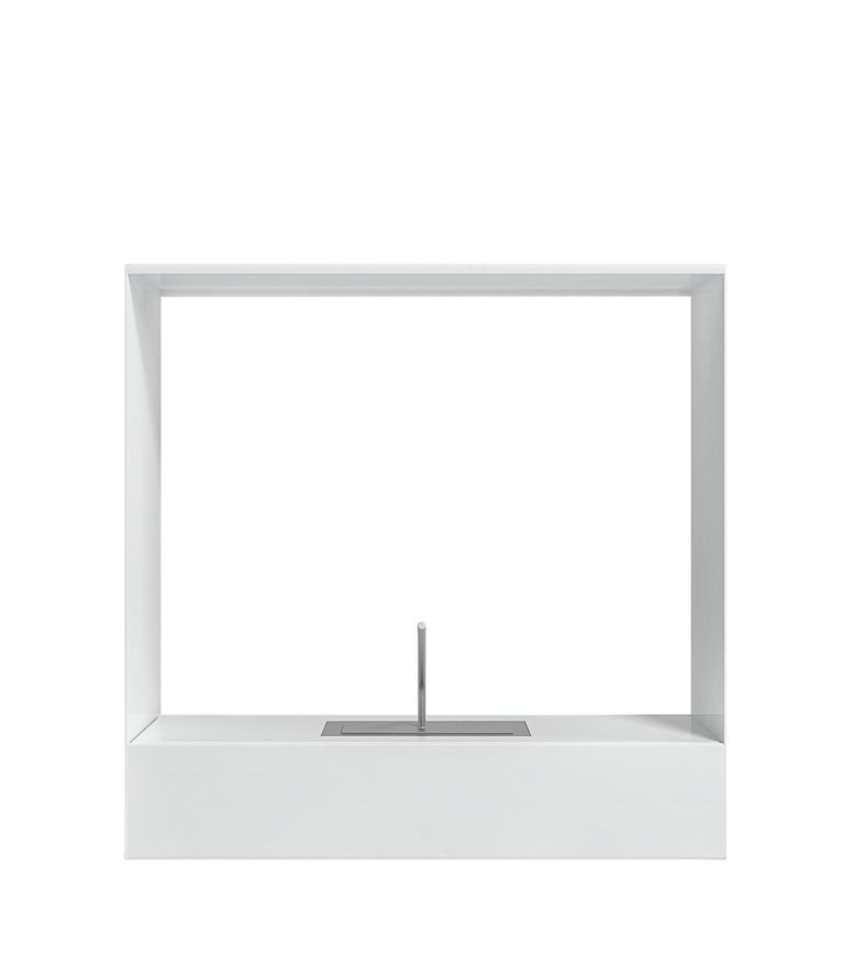 For Sale: White (RAL9016.jpg) Gandia Blasco Lighting Llar Fireplace 2 by Borja García 2