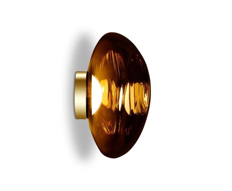 For Sale: Gold (melt gold.jpg) Melt LED Surface Light by Tom Dixon 3