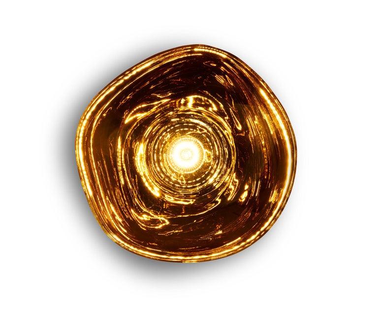 For Sale: Gold (melt gold.jpg) Melt LED Surface Light by Tom Dixon 4