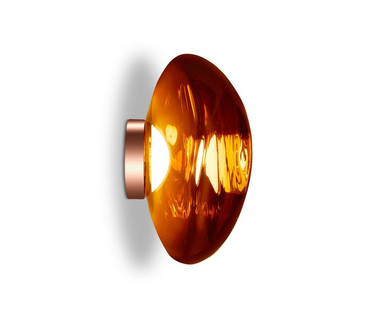 For Sale: Red (melt copper.jpg) Melt LED Surface Light by Tom Dixon 3