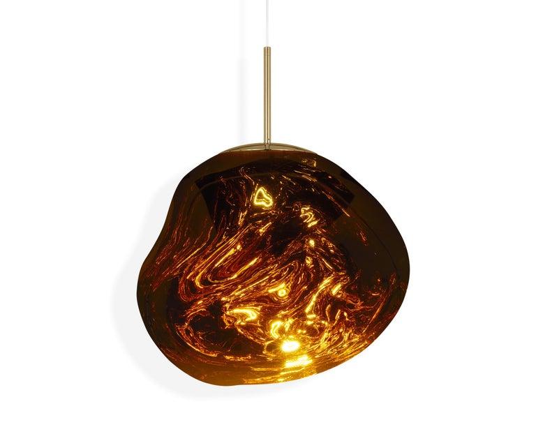 For Sale: Gold (melt gold.jpg) Melt LED Pendant Light by Tom Dixon 2