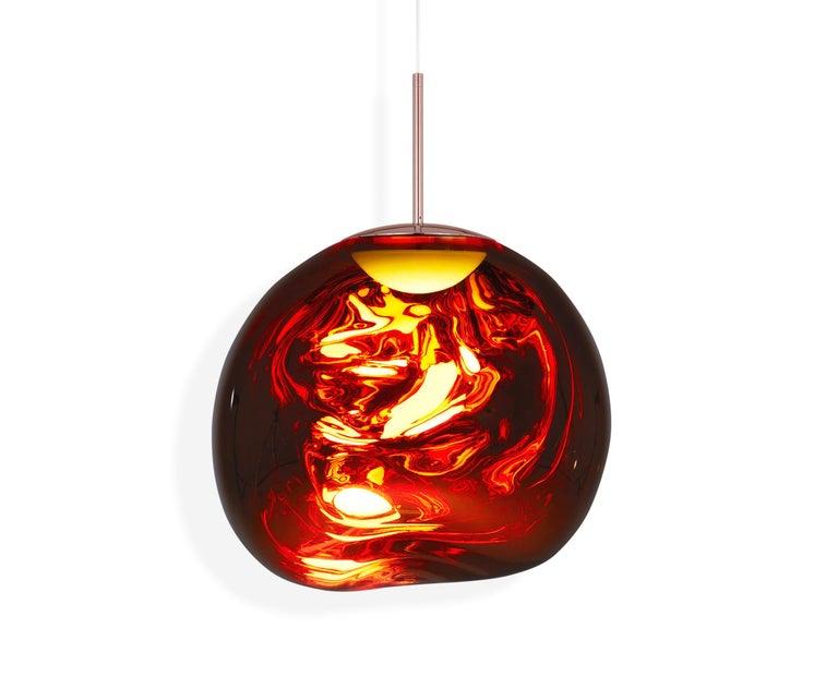 For Sale: Red (melt copper.jpg) Melt LED Pendant Light by Tom Dixon