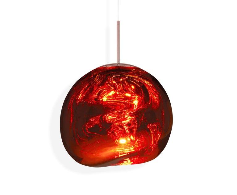 For Sale: Red (melt copper.jpg) Melt LED Pendant Light by Tom Dixon 2