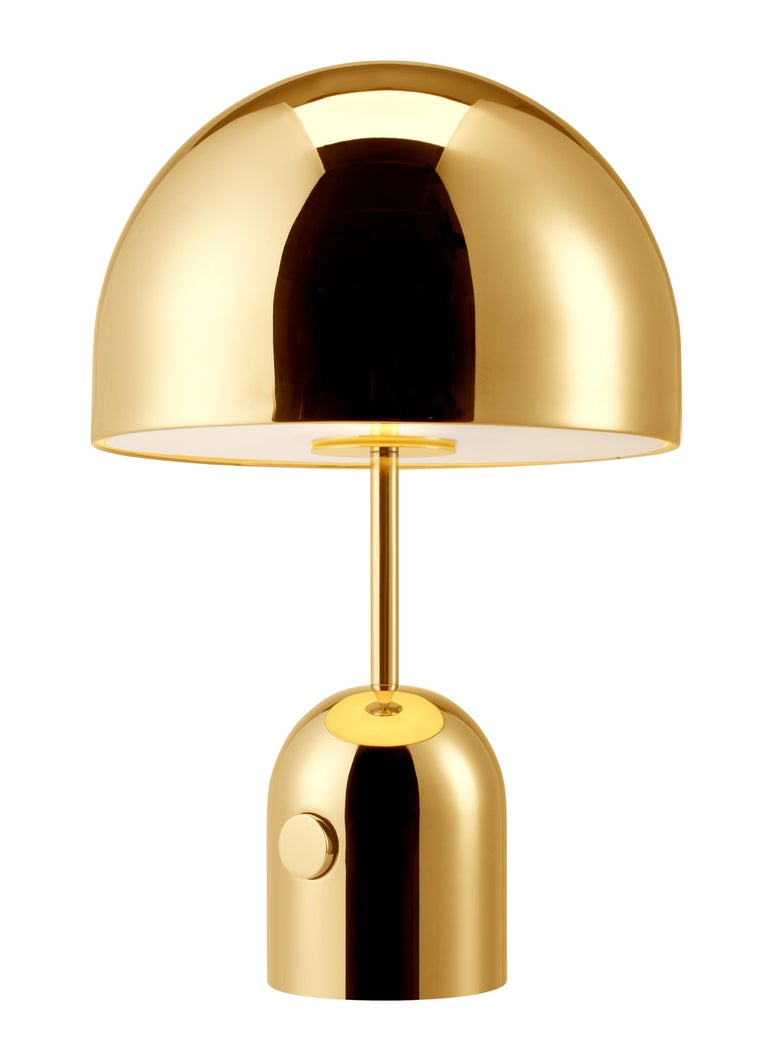 For Sale: Gold (brass.jpg) Bell Table Light by Tom Dixon