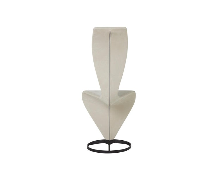 For Sale: Beige (Royal Nubuck.jpg) S Chair with Cast Iron Base by Tom Dixon 2