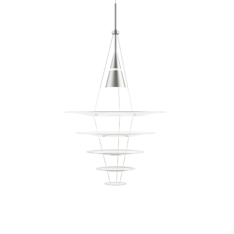 For Sale: Gray (aluminum.jpg) Louis Poulsen Medium Enigma Pendant Lamp by Shoichi Uchiyama