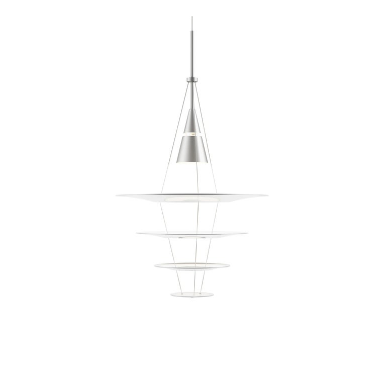 For Sale: Gray (aluminum.jpg) Louis Poulsen Small Enigma Pendant Lamp by Shoichi Uchiyama