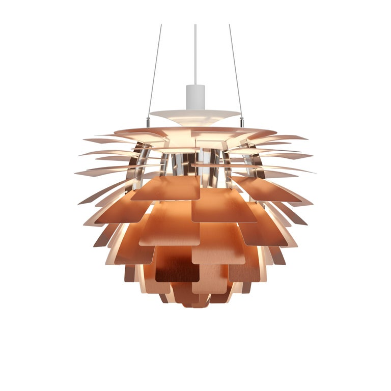 For Sale: Orange (copper.jpg) Louis Poulsen Medium PH Artichoke Pendant Light by Poul Henningsen