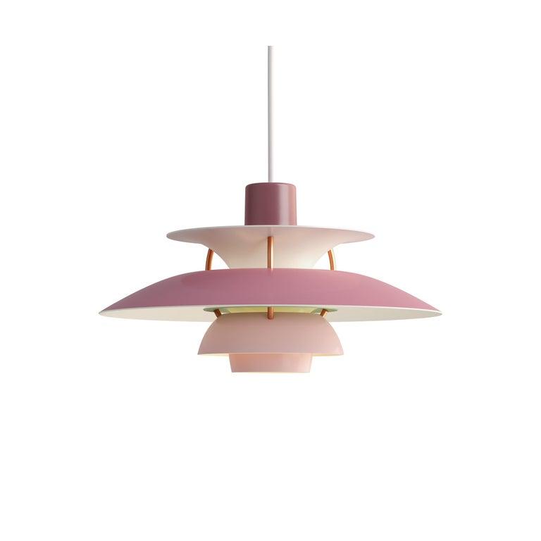 For Sale: Pink (rose.jpg) Louis Poulsen PH5 Mini Pendant Lamp by Poul Henningsen