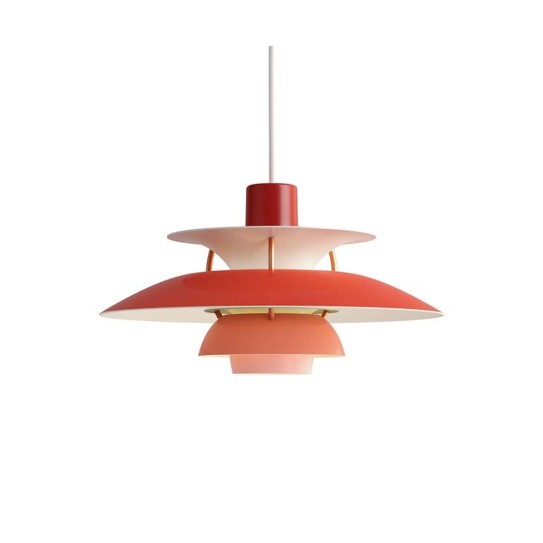 For Sale: Red (red.jpg) Louis Poulsen PH5 Mini Pendant Lamp by Poul Henningsen