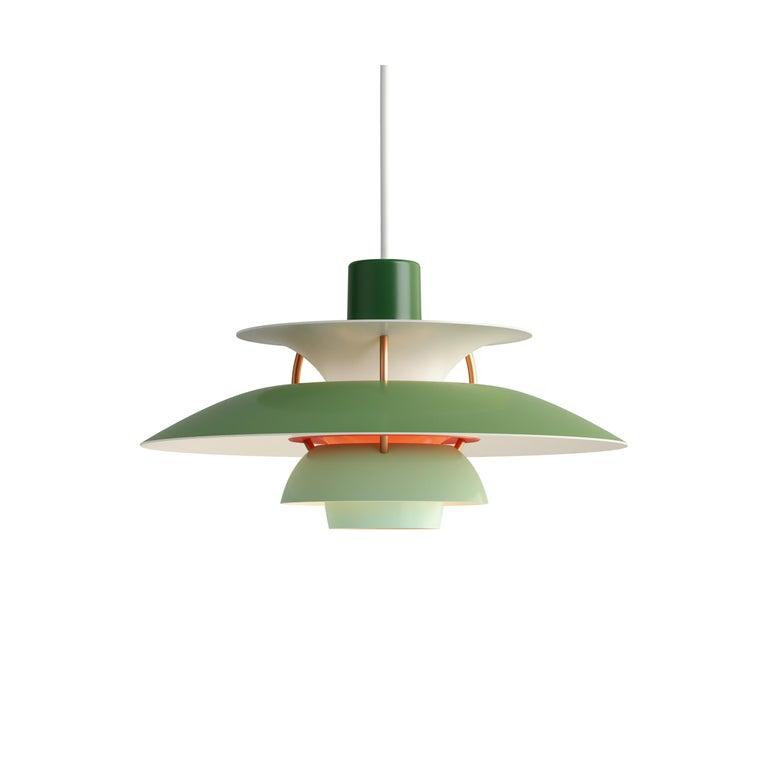 For Sale: Green (green.jpg) Louis Poulsen PH5 Mini Pendant Lamp by Poul Henningsen