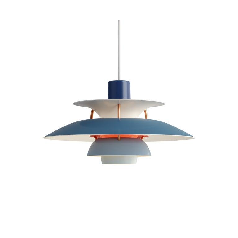 For Sale: Blue (blue.jpg) Louis Poulsen PH5 Mini Pendant Lamp by Poul Henningsen