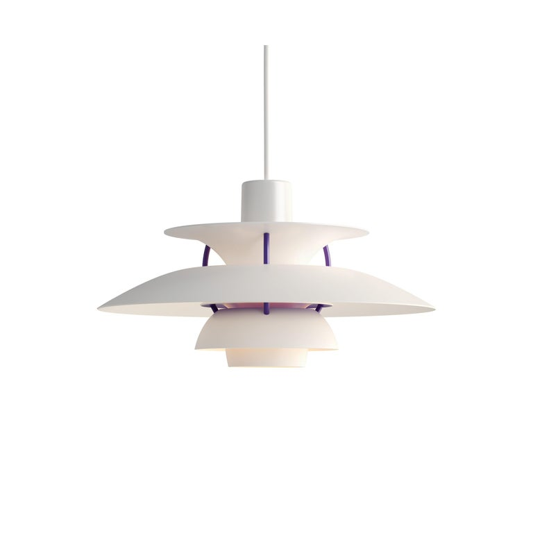 For Sale: White (white classic.jpg) Louis Poulsen PH5 Mini Pendant Lamp by Poul Henningsen