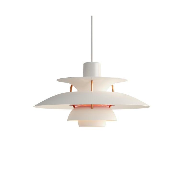For Sale: White (white modern.jpg) Louis Poulsen PH5 Mini Pendant Lamp by Poul Henningsen