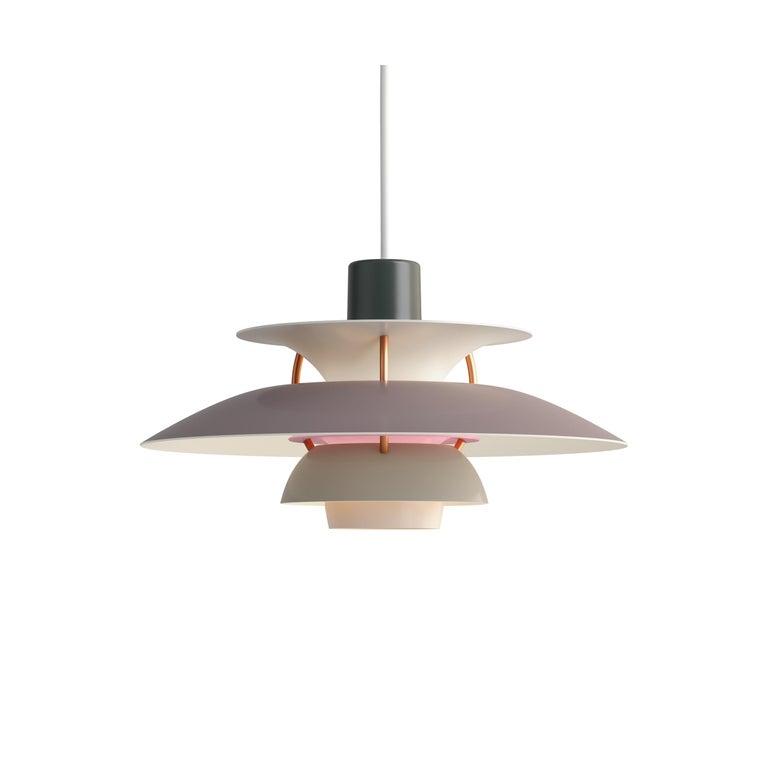 For Sale: Gray (grey.jpg) Louis Poulsen PH5 Mini Pendant Lamp by Poul Henningsen