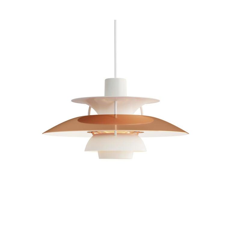 For Sale: Orange (copper.jpg) Louis Poulsen PH5 Mini Pendant Lamp by Poul Henningsen