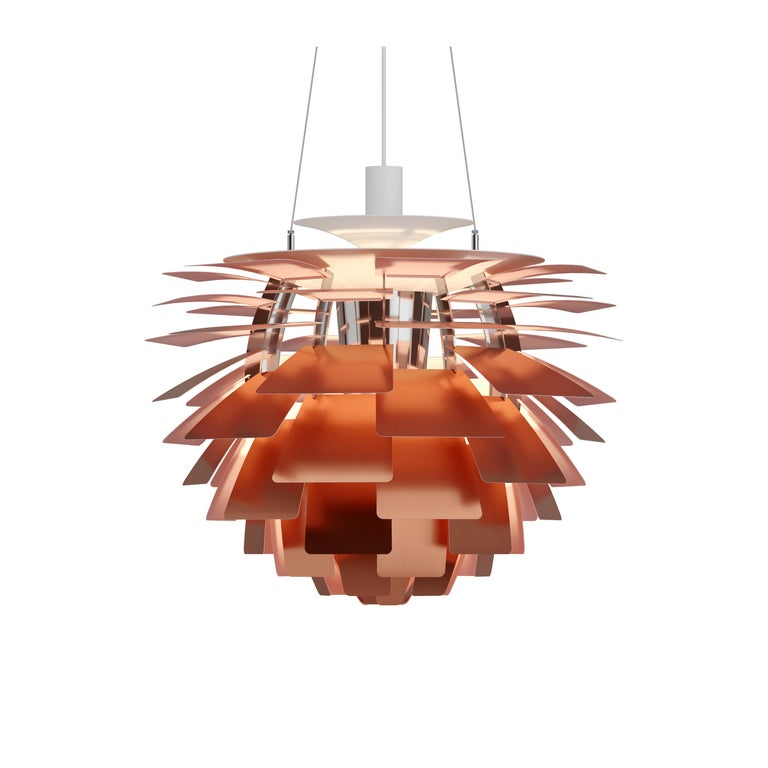 For Sale: Orange (copper rose.jpg) Louis Poulsen Large PH Artichoke Pendant Light by Poul Henningsen