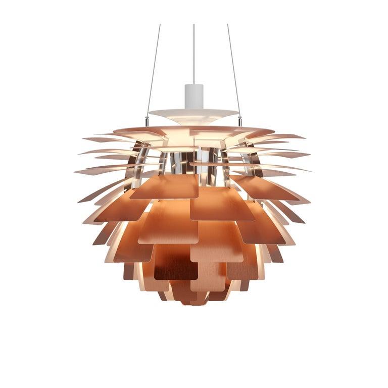 For Sale: Orange (copper.jpg) Louis Poulsen Extra Large PH Artichoke Pendant Light by Poul Henningsen