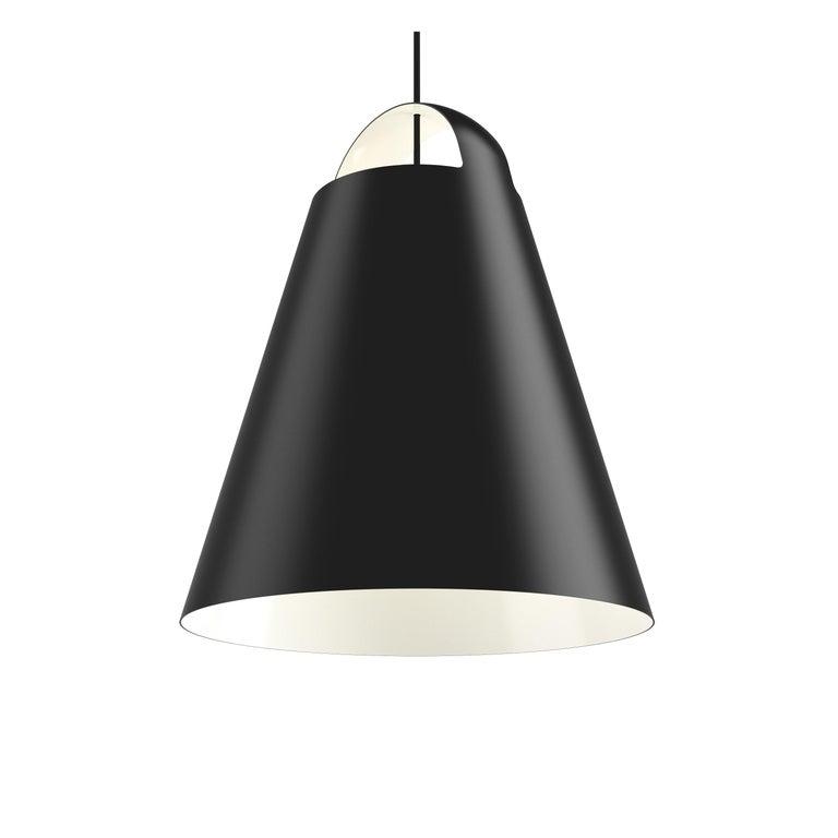 For Sale: Black (black.jpg) Louis Poulsen Extra Large above Pendant Lamp by Mads Odgård