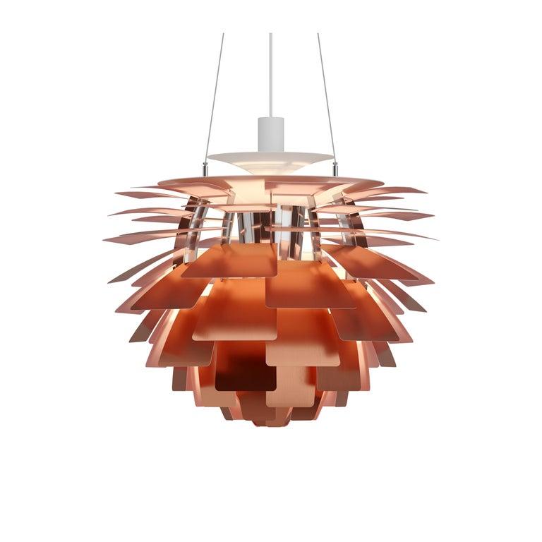 For Sale: Orange (copper rose.jpg) Louis Poulsen Extra Large PH Artichoke Pendant Light by Poul Henningsen