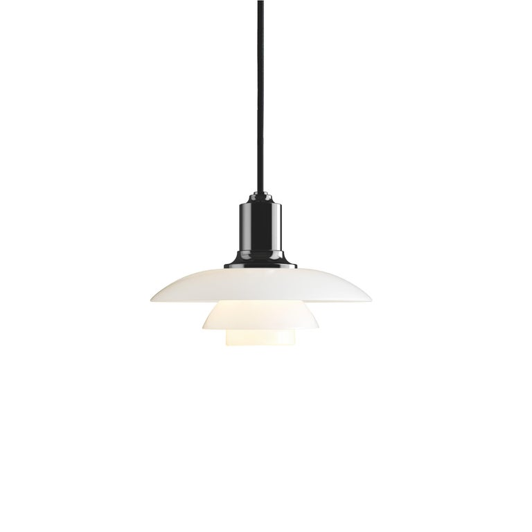 For Sale: Black (black.jpg) Louis Poulsen PH 2/1 Pendant Light by Poul Henningsen
