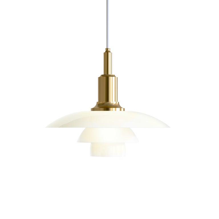 For Sale: Gold (brass.jpg) Louis Poulsen PH 3/2 Pendant Light by Poul Henningsen