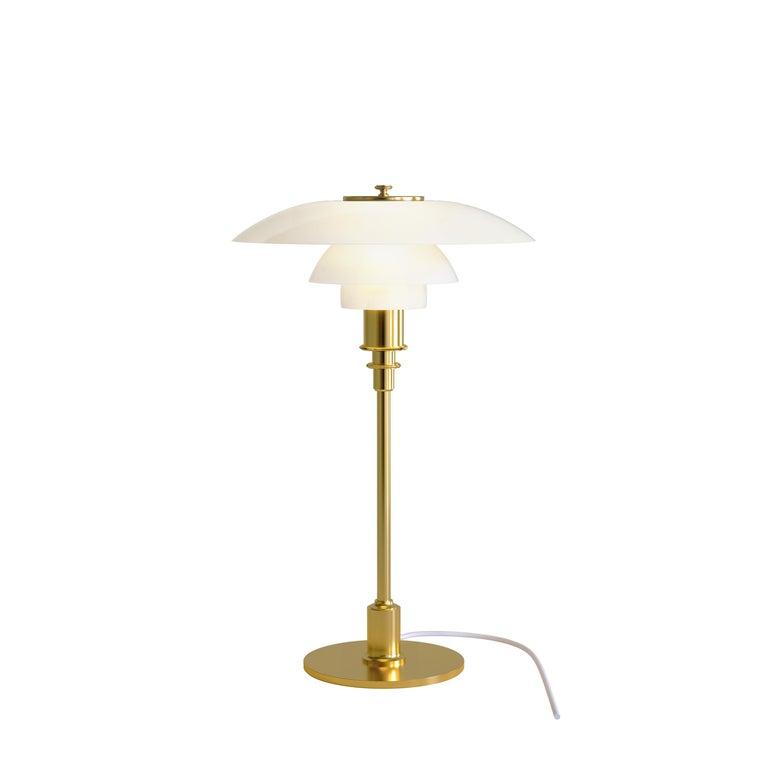 For Sale: Gold (brass.jpg) Louis Poulsen PH 3/2 Table Light by Poul Henningsen