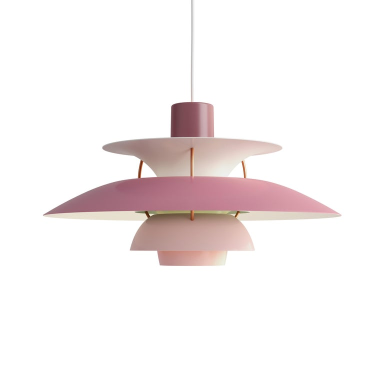 For Sale: Pink (rose.jpg) Louis Poulsen PH 5 Pendant Light by Poul Henningsen