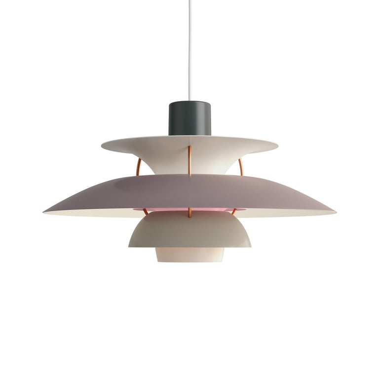 For Sale: Gray (grey.jpg) Louis Poulsen PH 5 Pendant Light by Poul Henningsen
