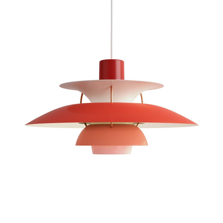 For Sale: Red (red.jpg) Louis Poulsen PH 5 Pendant Light by Poul Henningsen
