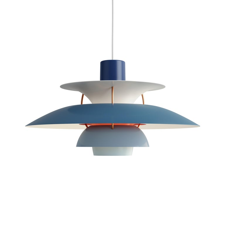 For Sale: Blue (blue.jpg) Louis Poulsen PH 5 Pendant Light by Poul Henningsen