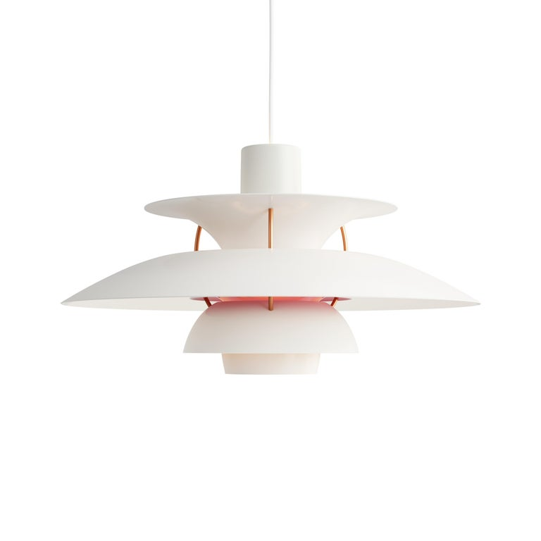 For Sale: White (white modern.jpg) Louis Poulsen PH 5 Pendant Light by Poul Henningsen